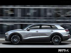 2018 Audi Q6 e-tron rendered