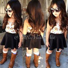sunglasses girls toddler boots kids boots skater skirt kids fashion floral shirt floral