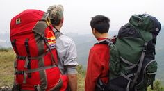 two backpackers with good travel backpacks