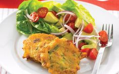 Bacon,Pumpkin and Zucchini Fritters