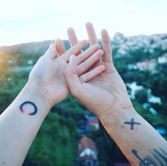 XO hasta que la muerte nos separe. | 21 Adorables ideas para hacerte un tatuaje…
