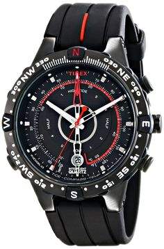 Amazon.com  Timex Men s T2N720 Intelligent Quartz Black- Stainless Steel  Watch with Silicone 491af2fca40