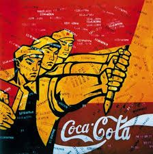 Wang Guangyi, Coca-Cola The Great Criticism Series Coca Cola, Berlin, Cherry Blossom Art, Gcse Art, China, Book Images, Consumerism, Old Art, Chinese Art