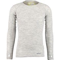 XTM Performance Grey Merino Wool Baselayer Top