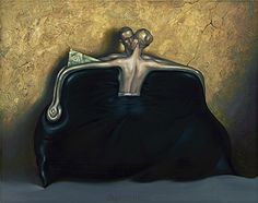 Nr. 4 - Vladimir Kush , The purse (The painting what transformed in a sculpture), I like them all.