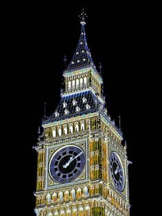 Big Ben is the nickname for the great bell of the clock at the Palace of Westminster, London - The tower is now officially called the Elizabeth Tower, after being renamed in 2012 to celebrate the Diamond Jubilee of Elizabeth II (Some Thing You Should Just Leave Alone...)