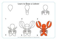 Learn to Draw a Lobster ACTIVITY VILLAGE.CO.UK