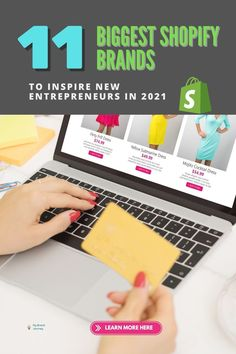 Find out our top 11 Big Shopify Brands to consider selling this year. #brand #business #entrepreneur #startup #onlinesales #ecommerce #inspiration #howto #guide #shopify