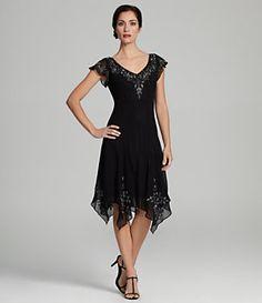 Jkara Cap-Sleeve Beaded Dress   Dillard's Mobile