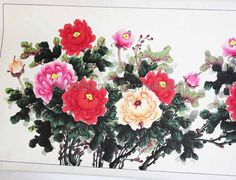 vintage Chinese Scroll Painting...hand by 2goodponiesvintage, $175.00