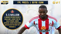 3.6% of #FPL players own Defoe, and with (lei, NOR, SWA, avl, TOT, bou) in the first six, there is goal potential.