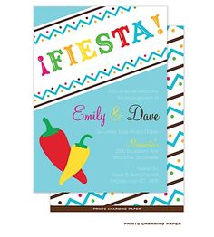 Start your Cinco de Mayo guests off with a stylish party invitation, love the colors on this Fiesta invite