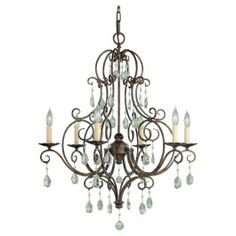 Murray Feiss | Chateau 6-Light Single Tier Chandelier