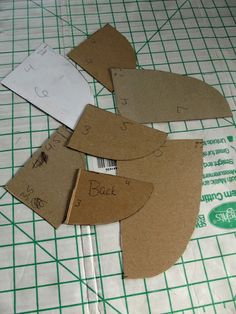 Sewing Tip- Make guides from cardboard to create a set of your favourite neckline shapes and sizes when altering patterns.