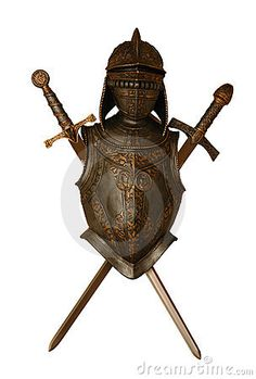 Ornate midevil knight in shining armor wall hanging