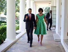President Barack Obama and First Lady Michelle Obama walk along the Colonnade of the White House, Sept. (Official White House Photo by Pete Souza)