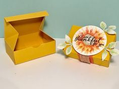 Painted Harvest Gift Box - Video Tutorial with New Stampin' Up Product - YouTube