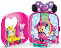 """Fisher-Price Minnie Mouse Bow-tique Fashion On-the-Go Playset - Fisher-Price - Toys """"R"""" Us Toys R Us, New Toys, Toddler Christmas Gifts, Holiday Gifts, Christmas Ideas, Christmas Toys, Fisher Price, Toddler Toys, Kids Toys"""