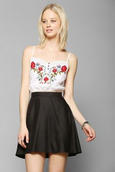 Kimchi Blue Cantina Embroidered Cropped Cami #urbanoutfitters