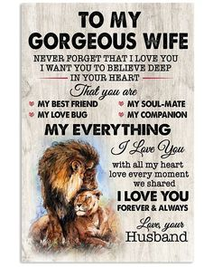 Great Gifts For Wife, Love Gifts, Wife Quotes, I Love You Forever, With All My Heart, Gsm Paper, Family Love, Some Words, Family Gifts