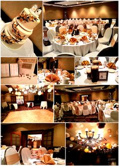 Fall Wedding  - Gold Color  Reception held at the Embassy Suites Airport - MN