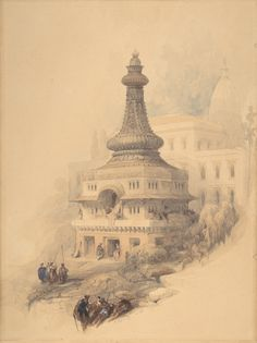 David Roberts - Oriental Scene (1838)