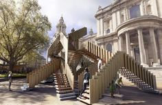 Landmark project 2013: Endless stairs at St Paul's Cathedral. London Design Festival - 14-22 Sept 13