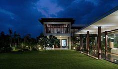 Flachdachhaus Indien moderne-Architektur luftiges Raumgefühl