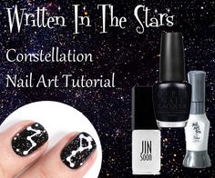 Constellation Nails - Nail Art Tutorial via @alllacqueredup