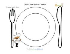 Drawing activity for children. This activity is a great tool for helping children learn about the importance of breakfast and what foods make a healthy breakfast. Healthy And Unhealthy Food, Healthy Meals For Two, Healthy Kids, Healthy Habits, Healthy Eating, Healthy Recipes, Easy Recipes, Nutrition Education, Kids Nutrition