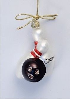 Bowling Ornament - Personalized Family Christmas Ornament