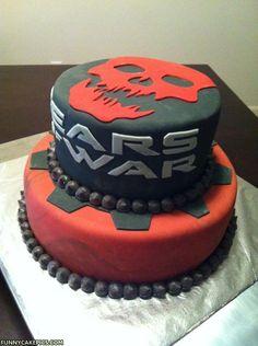 Gears of War Grooms Cake!