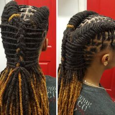 Loc retwist& style... luv it
