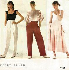 UNCUT VOGUE1161 MISSES' PANTS & CULOTTES AMERICAN DESIGNER PERRY ELLIS  PATTERN  #VOGUE