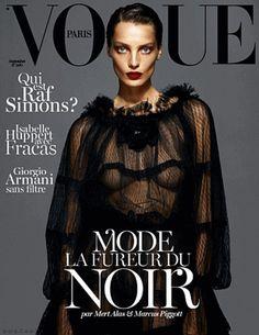Vogue Paris September 2012 (Cover)Kate Moss, Daria Werbowy and Lara Stone