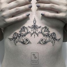 tattoo tatuagens linhas finas marla moon ornamentos