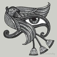 Eye of Horus with Egyptian Papyrus (a future tatoo)