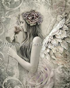 Silent Reverie cross stitch chart from Heaven and Earth Designs