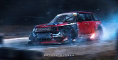 Range Rovers like to Drift too. , Khyzyl Saleem on ArtStation at https://www.artstation.com/artwork/mOvoa