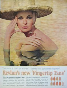 1964 Revlon Fingernail Polish Vintage Advertisement by RelicEclectic on Etsy #RelicEclectic #VintageAd #Revlon