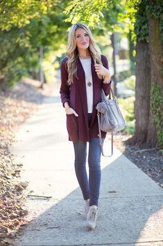 Burgundy Cardigan | Blonde Expeditions