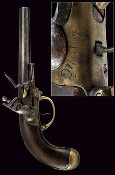 A 1777 model cavalry percussion pistol   dating: circa 1800   provenance: France