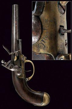 A 1777 model cavalry percussion pistol   dating: circa 1800   provenance: France