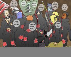 The Deadly Akatsuki, everybody! this was my first time drawing the rest of the Akatsuki group besides Itachi. it was pretty fun. Comic Naruto, Naruto Y Boruto, Naruto Funny, Gaara, Itachi, Naruto Meme, Akatsuki, Naruto Nails, I Ninja