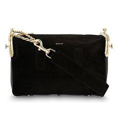 SACAI Hybrid Suede Shoulder Bag. #sacai #bags #shoulder bags #lining #suede #
