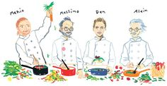 The Luxury of Leftovers / illustration by Konstantin Kakanias #chefs #NYT