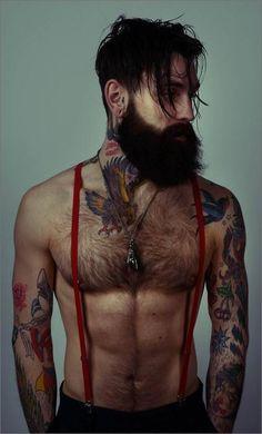 Beard, check. Tattoos, check. Sexy, check. I'm in love.