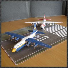 Blue Angles Lockheed C-130 Hercules Free Aircraft Paper Model Download - http://www.papercraftsquare.com/blue-angles-lockheed-c-130-hercules-free-aircraft-paper-model-download.html