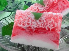 Soap - Strawberries and Cream Soap made with Shea Butter - Glycerin Soap - Handmade Soap via Etsy