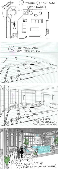 A helpful guide for building interiors - by Thomas Romain (one of the few foreigners working in the anime industry in Japan):